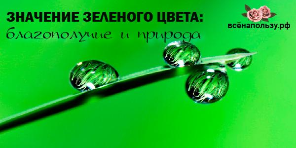 что значит зеленый цвет