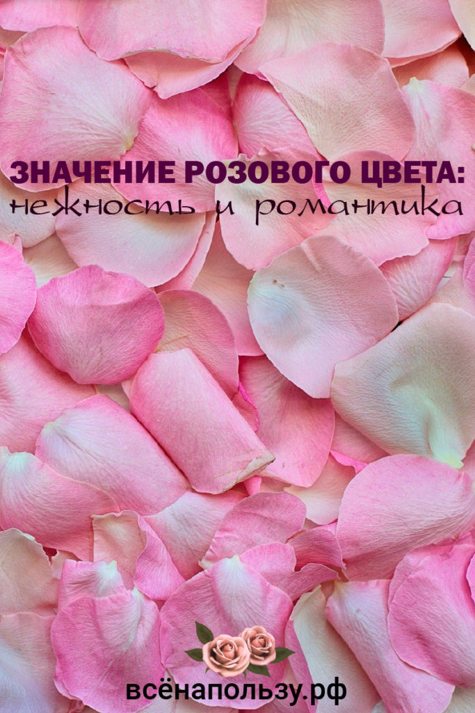 значение розового цвета